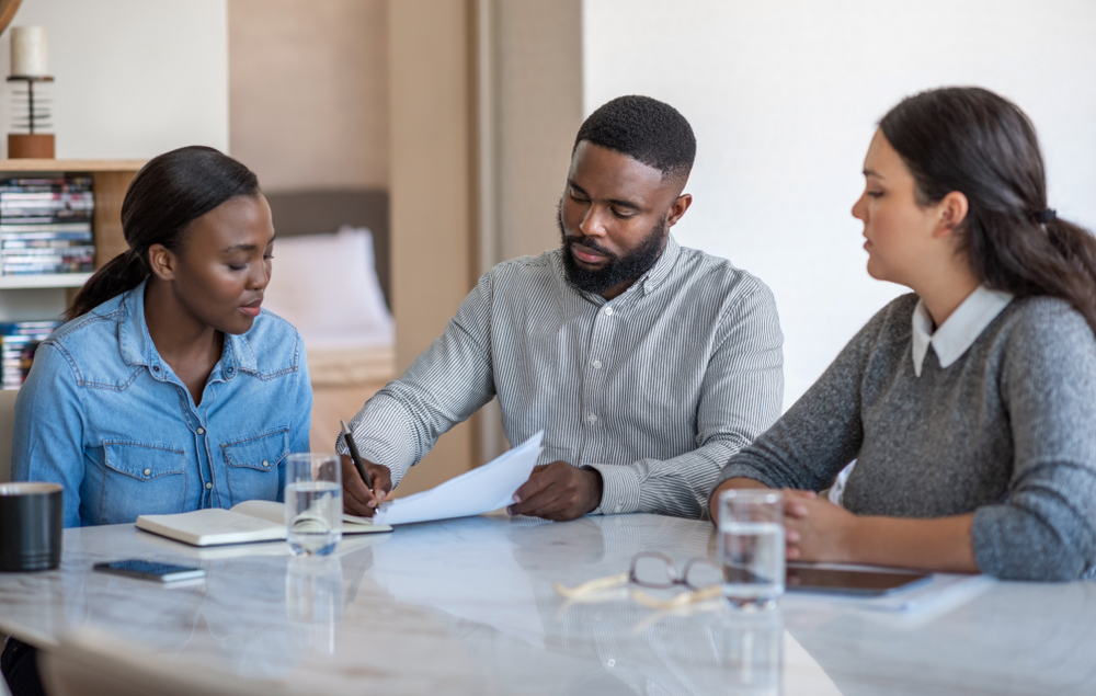 couple evaluating options for a will